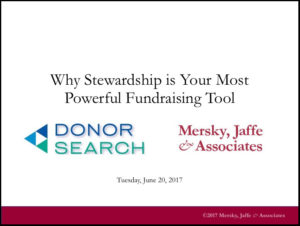 Why Stewardship is Your Most Powerful Fundraising Tool