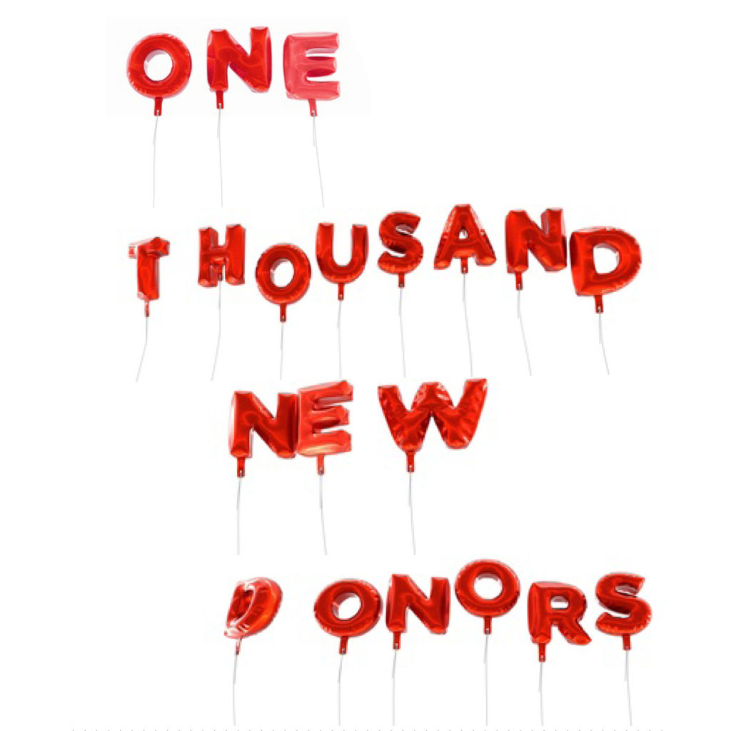 1000 New Donors